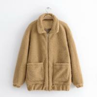 Buy cheap Fashion lamb wool warm coat /Cashmere outer wear/customized lana overcoat from wholesalers