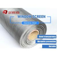 Buy cheap 11 Mesh * 0.8mm Wire Security Fly Screen Mesh For Aluminum Window Screening from wholesalers
