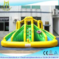 Hansel PVC material kids water park games inflatable bouncers with water slide Manufactures