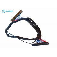 Buy cheap 50 Pin Dupont 2.54mm Pitch Connector Lcd Lvds Cable To Dupont2.54 With Earth Ring Display from wholesalers