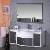 Buy cheap Fashion home decoration PVC furniture bathroom cabinet/hand/face wash vanity with basin sink from wholesalers