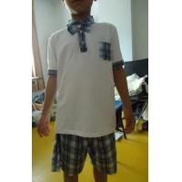 Buy cheap Short Sleeve Childrens School Uniforms , Boy 2 Piece Boys School Uniforms from wholesalers