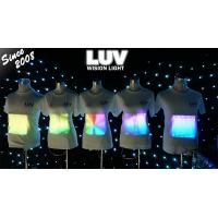 Buy cheap led t shirt custom flannel shirt/sound activated custom led t shirt/programmable led t shirt from wholesalers