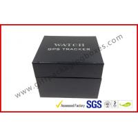 Buy cheap Leather Texture Rigid Board Gift Packaging Boxes , Foil Stamping Watch Packaging Boxes With Soft Velvet from wholesalers