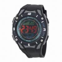 Buy cheap Promotional leisure watch for gents with 1.5-year battery lifetime, 30M water-resistant from wholesalers