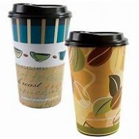Buy cheap PE Coated Paper Takeaway Smoothie Cups 16 Ounce Double Wall With Accurate Printing from wholesalers