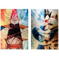 Wholesale 3D Flip Lenticular Anime Poster Printing Dragon Ball / 3 Dimensional Pictures from china suppliers