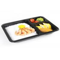 Buy cheap PLA Biodegradable Take Away Food Packaging , Disposable Foam Blister Compartment Meal Tray from wholesalers