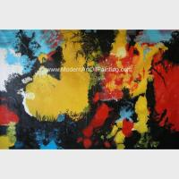 Buy cheap Abstract Acrylic Painting The Fire / Contemporary Canvas Wall Art Framed On Canvas product