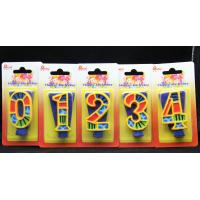 Wholesale Handmade Painted Number Candle with Blue Set Square and Yellow Edge with colorful Paintings from china suppliers
