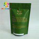 Buy cheap Aluminum Foil Lined Matt White Green Tea Packaging Bag With Zipper Custom Design from wholesalers