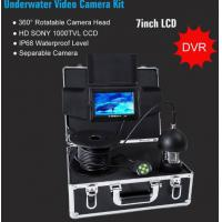 Buy cheap 100m Cable 7in LCD 1000TVL Upgrade Professional DVR 360 degree Rotatable Underwater video Camera KIT with Separable Came from wholesalers