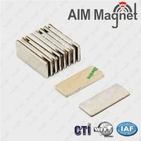 Wholesale 15x8x1mm 3M adhesive block magnets from china suppliers