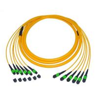 Buy cheap Single Mode 9 / 125 Fiber Optic Patch Cord Cable 12 Fiber Trunk MTP / MPO Pvc from wholesalers