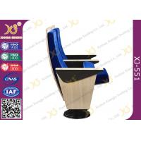 Buy cheap Maple Veneer Blue Upholstered Auditorium Chairs With Heater Air Output Under Seat Pad from wholesalers