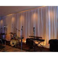 Wholesale LED star cloth curtain backdrop wedding aluminum backdrop stand pipe and drape system from china suppliers