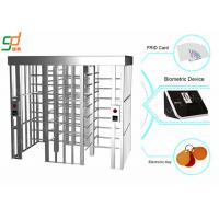 Buy cheap Automatic B - Direction Full Height Turnstiles , Slot Reader access control turnstiles from wholesalers