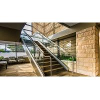 Buy cheap Modern Home Glass Panel Handrail Aluminum U Channel Railing Stair Balustrade Design from wholesalers