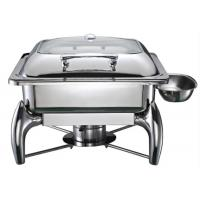 Buy cheap Square Induction Chafing Dish Hydraulic Chafing Dishes Buffet Chafer With Glass Lid  from wholesalers