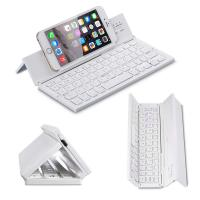 Wholesale Metal Aluminum Alloy 3 Level Foldable Bluetooth Keyboard Rechargeable Portable Folding Wireless Keyboard from china suppliers