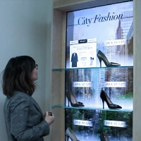 Wholesale Shopping Interactive Showcase Display Cabinets Establish Communication from china suppliers
