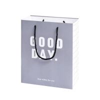 Buy cheap Custom Logo Offset Printing Grey 230GSM Art Paper Gift Bags from wholesalers