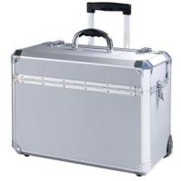 Wholesale OEM Aluminum Tool Case , Silver Makeup Trolley Cosmetic Case from china suppliers