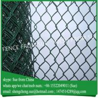 Buy cheap 2m high 10m roll pvc coated chain link farm used chain link fencing wholesale from wholesalers