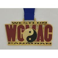 Buy cheap Personalized Heat Transfer Ribbon Medals Shiny Copper Plated Eco Friendly from wholesalers