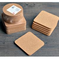 Buy cheap High Quality Cork Coaster with silkscreen shrink wrapped packing, customized size is available from wholesalers