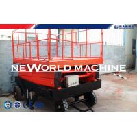 Wholesale Self - Propelled Red Hydraulic Lift Table /  Hydraulic Elevating Platform from china suppliers