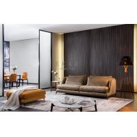 Buy cheap 2.4m Brown Long Couch Fabric Furniture Big Living Room Sofa from wholesalers