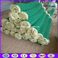 Buy cheap Green color 60x60 opening black chain link fence cost for architecture from wholesalers