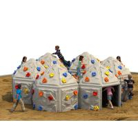 Buy cheap Playground Kids Climbing Wall Outdoor Plastic With Climbing Stone from wholesalers