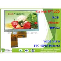 Buy cheap 4.3 Inch Industrial LCD Panel Resolution 480*272 LCD Display for POS and Home Appliance from wholesalers