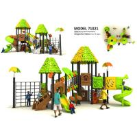 Buy cheap Creez Jungle Style Children'S Playground Equipment With Rock Climber And Net Frame from wholesalers