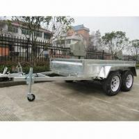 Buy cheap Tandem Box Trailer with Hot-dipped Galvanized Surface Finish from wholesalers