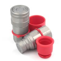 Buy cheap Zinc Nickel Plating Flat Face Quick Release Couplings 1/2 Inch 5000 PSI Rated Pressure from wholesalers