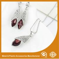 Wholesale Customized Jewelry Silver Plated Two-Piece Zinc Alloy Jewelry Sets With Synthetic CZ from china suppliers