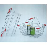 Buy cheap Chrome Plated Supermarket Wire Baskets Wire Shopping Basket For Grocery Store from wholesalers