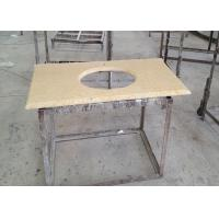 Buy cheap Sunny Gold Marble Sink Top , Kitchen Wash Basin Marble Vanity Countertops from wholesalers