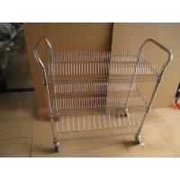 Buy cheap SMT Reel Storage handle Cart, single and double peak,wire metal racks with casters from wholesalers