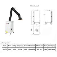 Buy cheap Flame Retardant Industrial Air Cleaner Mobile Welding Series Fume Extractor from wholesalers