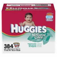 Huggies Natural Care Fragrance Free Wipes - 384 count refill Manufactures
