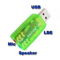 Buy cheap USB Audio 5.1 Sound card Microphone Adapter For Laptop from wholesalers