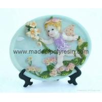 Buy cheap polyresin/polystone plate plaque, baby angel gifts 2D sculpture from wholesalers