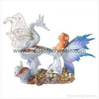 Buy cheap Fairy With Dragon Figurine Polyresin Fairy Crafts from wholesalers