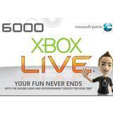 Xbox 360 Points xbox live 6000 Point Card (US) U Manufactures