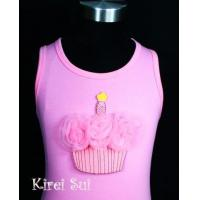 Light Pink Tank Top with Cupcake V4 Manufactures