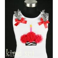 White Tank Top with Cupcake CB2 Manufactures